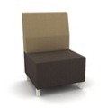 Modern Two Tone Fabric Armless Chair, 25800