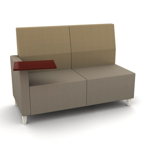 Black Friday Deals 2014 National Office Furniture Modern Two Tone Fabric Loveseat With Tablet
