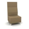 Modern High Back Fabric or Vinyl Armless Chair, 25806