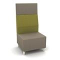 Modern High Back Two Tone Fabric Armless Chair, 25807