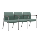 Easy-Clean Fabric Three Seat Guest Chair with Wall Saver Legs, 25873