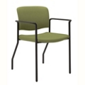 Stackable Fabric Guest Chair with Wall Saver Legs, 25877