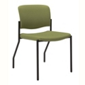 Stackable Armless Fabric Guest Chair with Wall Saver Legs, 25878