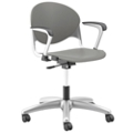 Plastic Task Chair with Platinum Metallic Frame, 56649