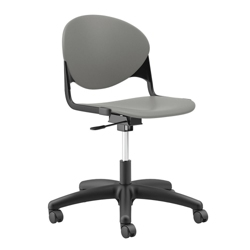 Plastic Armless Task Chair with Black Frame, 56650