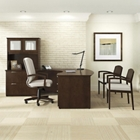"""Bow Front L-Desk with Hutch - 71.75""""W x 95.5""""D, 13972"""