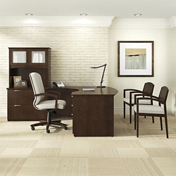 "Bow Front Office Set with Chairs - 71.75""W x 95.5""D, 13971"