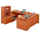 U Desk with Cabinet, 13180S