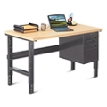 "Annex Industrial Adjustable Height Compact Desk with Pedestal - 60""W , 14325"