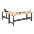 "Annex Industrial Adjustable Height  L-Desk - 72""W , 14328"