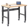 "Annex Industrial Mobile Adjustable Standing Height Compact Desk - 48""W , 14331"
