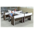 Metropolitan Four L-Desk Workstation Set, 14362