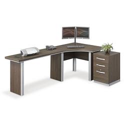 """Metropolitan J Desk with Pedestal - 96""""W, 14363"""