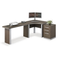 "Metropolitan J Desk with Pedestal - 96""W, 14363"