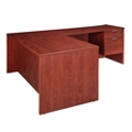 "Solutions Three-Quarter Pedestal L-Desk with Right Return - 66"" x 72"", 14403"