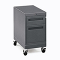 "Annex Industrial Two Drawer Locking Mobile Pedestal - 15""W, 34438"
