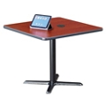 "Frappe Standard Height Square Table with Power - 36""W, 46023"