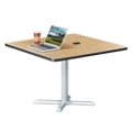 "Frappe Standard Height Square Table with Power - 42""W, 46025"