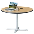 "Frappe Standard Height Round Table with Power - 42""W, 46031"