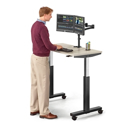 "Lift Adjustable Height Table - 47""W, 46058"