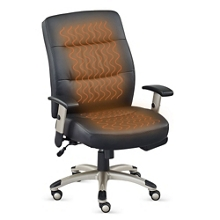 Comfortemp Faux Leather Task Chair with Heated Seat and Back, 50906