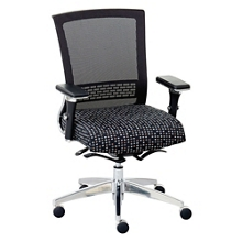 Array Patterned Fabric Seat Mesh Back Ergonomic Chair, 56619