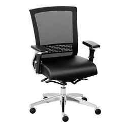 Array Faux Leather Seat Mesh Back Ergonomic Chair, 56621-1