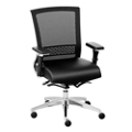 Array Faux Leather Seat Mesh Back Ergonomic Chair, 56621