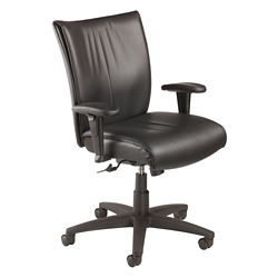 Leather Mid-Back Manager's Chair, 57123