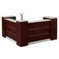 "Tower Reception Desk with Lockable Storage - 86.6""W, 76316"