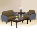 Arc Fabric or Fabric/Polyurethane Loveseat and Arm Chair Set, 76383
