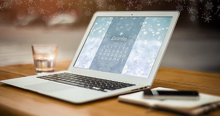 December 2016 Free Downloadable Calendar