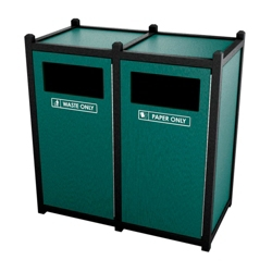 Double Sideload Waste Bin with 45 Gallon Capacity, 85456