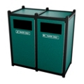 Double Sideload Waste Bins 26 Gallon Capacity, 85450