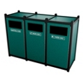 Triple Sideload Waste Bin with 32 Gallon Capacity., 85454