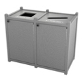 Double Topload Waste Bin with 45 Gallon Capacity, 85465