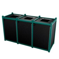Triple Topload Waste Bin with 45 Gallon Capacity, 85466