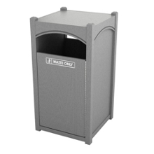 Single Sideload Arch Waste Bin with 32 Gallon Capacity, 85470