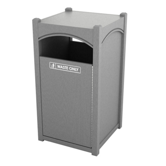 Single Sideload Arch Waste Bin with 26 Gallon Capacity, 85467