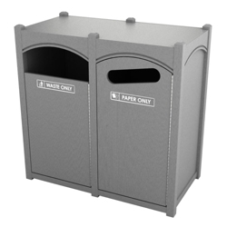 Double Sideload Arch Waste Bin with 45 Gallon Capacity, 85474