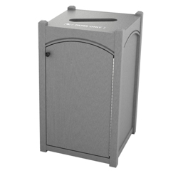 Single Topload Arch Waste Bin with 26 Gallon Capacity, 85476