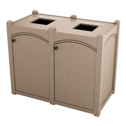 Double Topload Arch Waste Bin with 32 Gallon Capacity, 85480
