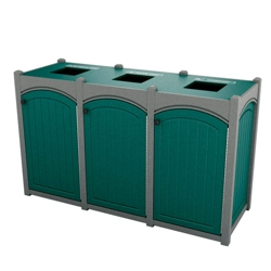 Triple Topload Arch Waste Bin with 26 Gallon Capacity, 85478