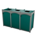 Triple Topload Arch Waste Bin with 32 Gallon Capacity, 85481