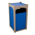 Single Sideload Bead Board Waste Bin 32 Gallon Capacity, 85540