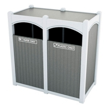Double Sideload Bead Board Waste Bin 32 Gallon Capacity, 85541