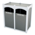 Double Sideload Bead Board Arch Waste Bin 45 Gallon Capacity, 85544
