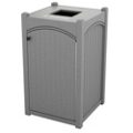 Single Topload Bead Board Waste Bin 45 Gallon Capacity, 85552