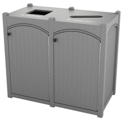 Double Topload Bead Board Waste Bin 32 Gallon Capacity, 85550