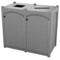Double Topload Bead Board Waste Bin 45 Gallon Capacity, 85553
